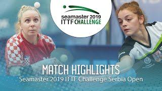 【動画】MALOBABIC Ivana VS JOKIC Tijana ITTFチャレンジ・セルビアオープン