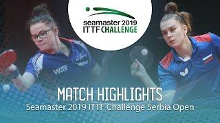 【動画】GUISNEL Oceane VS SHADRINA Daria ITTFチャレンジ・セルビアオープン