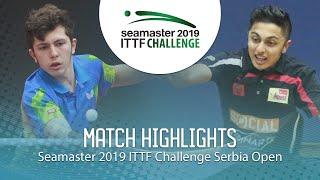 【動画】AHMADIAN Amin VS DANI Mudit ITTFチャレンジ・セルビアオープン