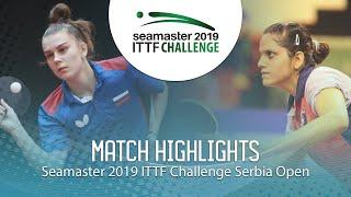 【動画】SHADRINA Daria VS SAHASRABUDHE Pooja ITTFチャレンジ・セルビアオープン