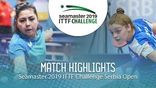 【動画】KHUSSEINOVA Gulchekhra VS JOKIC Tijana ITTFチャレンジ・セルビアオープン
