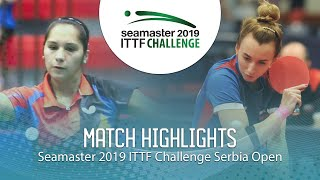 【動画】MALANINA Maria VS MORALES Judith ITTFチャレンジ・セルビアオープン ベスト64