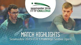【動画】DE NODREST Leo VS REMBERT Bastien ITTFチャレンジ・セルビアオープン 決勝