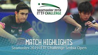 【動画】アファナドール VS 田中悠太 ITTFチャレンジ・セルビアオープン 準々決勝