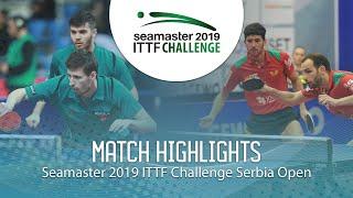 【動画】ECSEKI Nandor・アダム・シューディー VS カルバリョ・ジェラルド ITTFチャレンジ・セルビアオープン 準決勝