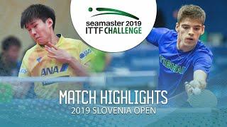 【動画】柏竹琉 VS CREPNJAK Matevz ITTFチャレンジ・スロベニアオープン