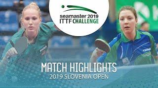 【動画】HARTBRICH Leonie VS MAVRI Gaja ITTFチャレンジ・スロベニアオープン