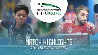【動画】パダサーク VS CIPIN Filip 2019 ITTFチャレンジ・スロベニアオープン