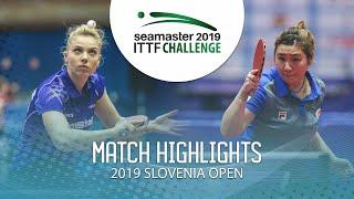 【動画】DIACONU Adina VS LIU Qi 2019 ITTFチャレンジ・スロベニアオープン
