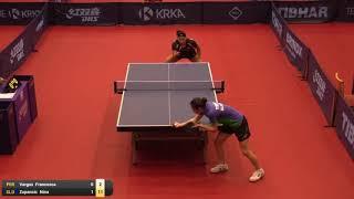 【動画】VARGAS Francesca VS ZUPANCIC Nina 2019 ITTFチャレンジ・スロベニアオープン