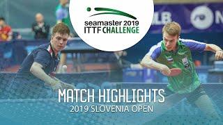 【動画】シドレンコ VS CVETKO Tilen 2019 ITTFチャレンジ・スロベニアオープン