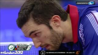 【動画】マルコス・フレイタス VS ルベッソン LIEBHERR 2016年ITTFヨーロッパ卓球選手権 準々決勝