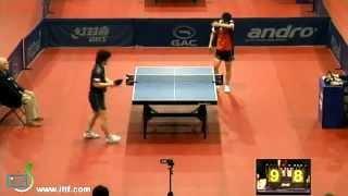 【動画】岸川聖也 VS 白鶴 GAC GROUP 2012 ポーランドオープン ベスト32