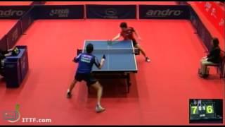 【動画】岸川聖也 VS アドリアン・マテネ 2013年ポーランドオープン、メジャーシリーズ ベスト32