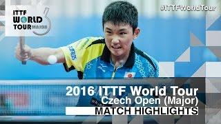 【動画】張本智和 VS OGATA Ryotaro 2016年チェコオープン ベスト32