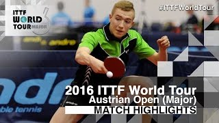 【動画】神巧也 VS KOTOWSKI Tomasz 2016年Hybiomeオーストリアオープン