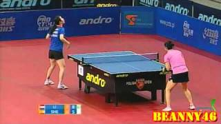 【動画】リー・ジャオ VS 沈燕飛 2010年ポーランドオープン -  ITTFプロツアー 決勝