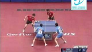【動画】陳杞・王皓 VS 馬龍・許昕 HIS 2009年の世界卓球選手権大会 決勝