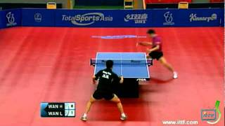 【動画】王皓 VS 王励勤 2011年スウェーデン・オープン -  ITTFプロツアー 準決勝
