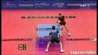 【動画】ティモ・ボル VS ティアゴ・アポロニア LIEBHERR 2010年オーストリアオープン -  ITTFプロツアー 決勝