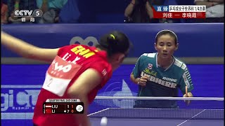 【動画】李 暁霞 VS LIU Jia 2014年女子ワールドカップ 準々決勝