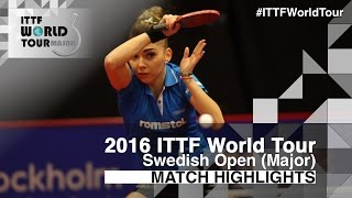 【動画】スッチ VS NIKITCHANKA Alina 2016年スウェーデン・オープン