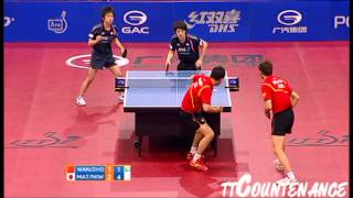 【動画】王皓・ZHOU Yu VS 松平健太・丹羽孝希 GAC GROUP 2012 ポーランドオープン 決勝