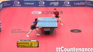 【動画】閻安 VS 樊振東 2014年クウェートオープン 決勝