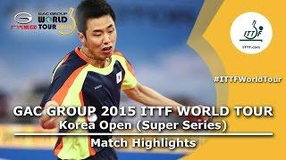 【動画】丹羽孝希 VS 朱世赫 2015年韓国オープン 準決勝