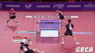【動画】張一博・松平賢二 VS 陳建安・荘智淵 LIEBHERR 2013年世界卓球選手権 準々決勝