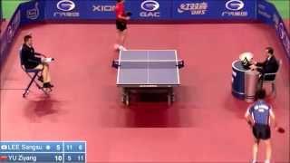 【動画】李尚洙 VS 于 子洋 2014年韓国オープン ベスト64