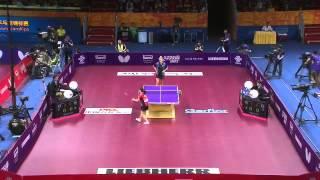 【動画】福原愛 VS ビレンコ クオロス2015年世界卓球選手権 ベスト64