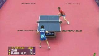 【動画】朴美英 VS 朱雨玲 2010ジャパンオープン -  ITTFプロツアー 準決勝