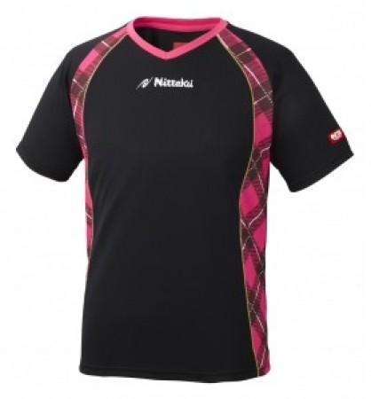 ユニVチェックスシャツ(ブラック×ピンク)