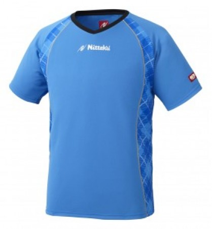 ユニVチェックスシャツ(ブルー)
